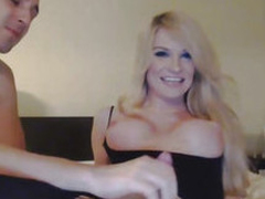 Blonde Tranny Enjoys Ass Drilling