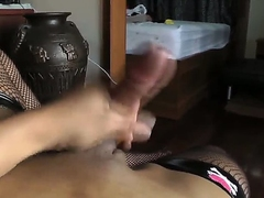 Hot shemale, whose name is Pang, decided to earn some money and made her own video, where she rubs her dick and teases boobies. Oh wow, now that is really awesome, you need to see this.