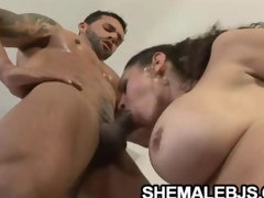 Rabeche Rayala Busty Shemale And The Muscle Cock