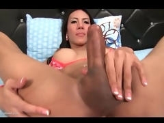 Ladyboy needs that butt plug in her asshole
