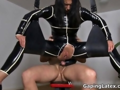 Sexy brunette babe gets horny fucking video 2